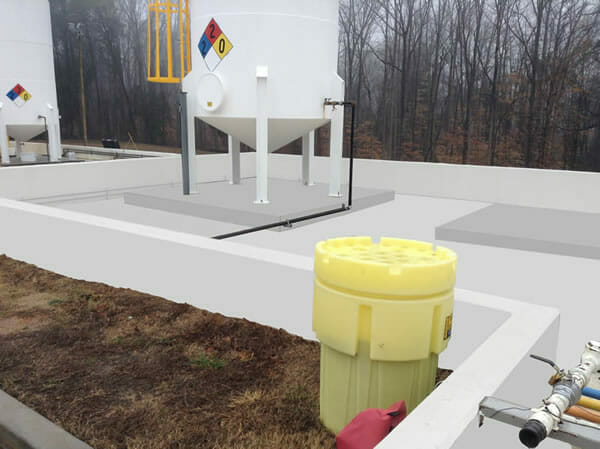 A&K Painting Company Secondary Containment Project Photo 1